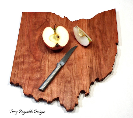 Ohio State Cutting Board, Personalized, Mother's Day, Gift Under 50, Wedding Gift, Foodie Gift, Anniversary Gift, Shower Gift, Hostess Gift