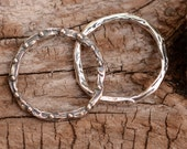 Two Artisan 19mm Dotted Link in Sterling Silver -226