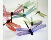 NEW YEAR SALE Df002 - 12 x 3D Dragonflies Suitable for Scrapbooking, Weddings and Decorations