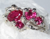 On Sale - Ruby (lab) Ring handmade Sterling Silver Made USA Treasurings