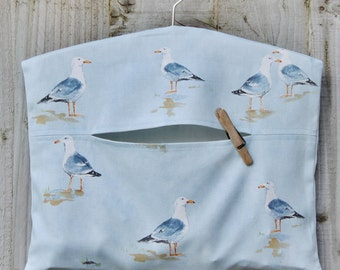Seagulls Clothespin Bag / Peg Bag