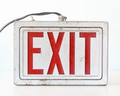 Vintage EXIT Sign, Light up Exit Sign, in working condition