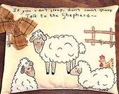 Sheep Stitchery Pattern, Christian Stitchery Pattern, Primitive Stitchery Pattern, Instant Download Pattern, Embroidery Pattern, Sheep Talk