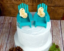 Beach Wedding Cake Topper, Beach Wedding Cake, Beach Wedding, Cake Topper, Beach themed wedding cake topper