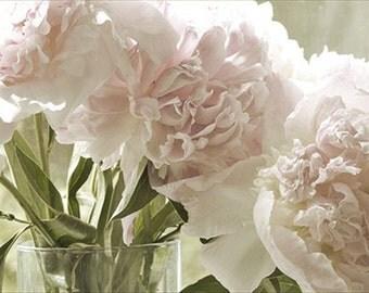 Peony Photograph, Floral Art Print, Pink, Sepia, Shabby Chic Wall Decor, Peony Wall Art, Bedroom Decor