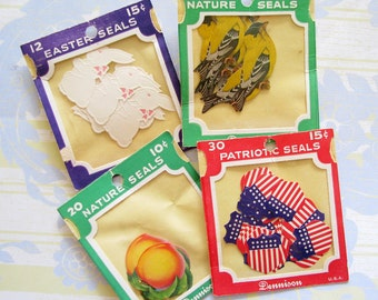 Artsy Supply...Colorful Vintage Unused Seals
