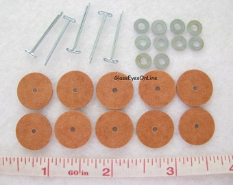 5 Joints Size 7mm or 10mm or 12mm or 15mm or 20mm or 25mm For Teddy Bear Making Make a Complete Bear or Plush Animal  ( TJ-1 )