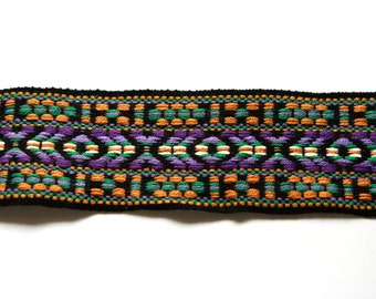 Supplies - Vintage Thick Woven Trim multicolored