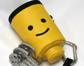 Mr. Lego Head, Hand Crafted Chalk Bag- Rock Climbing