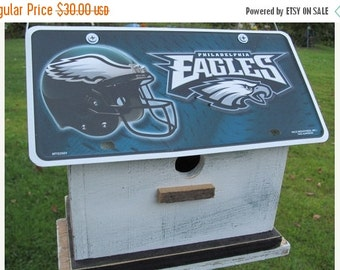 SUMMER SALE Philadelphia Eagles Vanity Plate  Football  Birdhouse Fully Functional