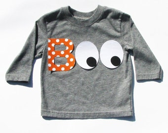 Halloween Boo...Fabric Iron On Appliques...Two Set Sizes Available