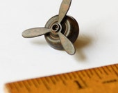 Airplane Propeller Tie Tack, Pilot Tie Tack, Aviator Jewelry, Spinning Propellers, Pilot Gift, Steampunk Propeller Tie Tack