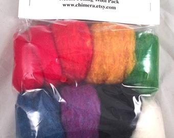 Felting Wool - Rainbow Colors