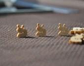 12pcs+ Zakka Happy Snail Wood Buttons