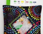 I Spy Bag - Mini with SEWN Word List and Detachable PICTURE LIST- Bright Circles