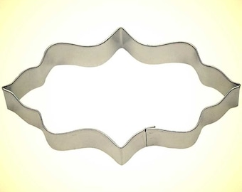 Moroccan Plaque Cookie Cutter 4.75 in  - for cookie dough, fondant, craft clay, bread, candy, brownies, soft fruit, marshmallows  (B0848)