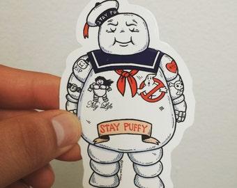 Stay Puffy Tattoo Die Cut Vinyl Sticker
