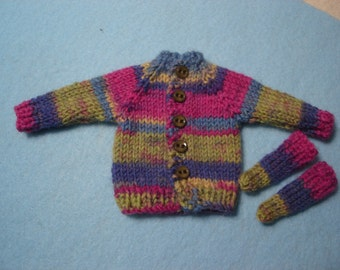 Blythe Multi Color Striped Wool Sweater and Socks for Pullip and Vintage SkipperToo