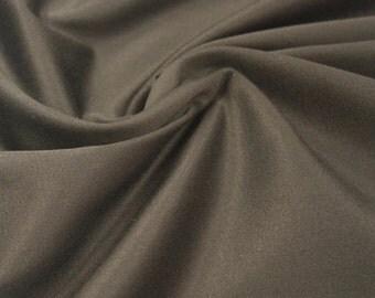 Cotton Spandex Satin in Black - 1 1/4 yard - Cotton Fabric / New Fabric / Spandex / Spandex Yardage / Apparel Fabric - LAST PIECE!