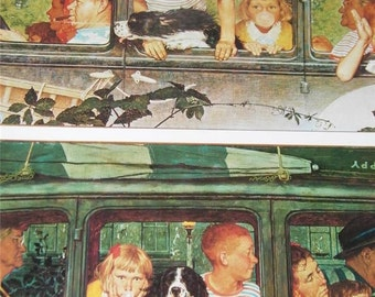 Vintage Norman Rockwell Going and Coming Print 12396