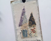Original Mixed Media Collage - house - SEW Somerset