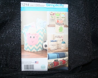 NEW, UNCUT, Factory fold,Simplicity 1214 Organizers Sewing Pattern, Tote/Pouches,Bag, Home Decor, Craft Tote, Crochet Tote,Gift, SEWBUSY12