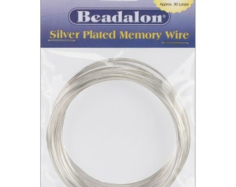Silver Memory Wire Large Bracelet .62mm .5oz