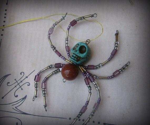 Sugar Skull Spider Ornament Sun catcher