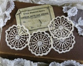 Handmade Antique Lace Medallions, 1800s ... Nagercoil South Lace Industry, India...London Missionary Society...Embellishment Lace Trim #1