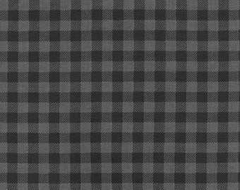 Burly Beavers Fabric, Hipster fabric, Plaid fabric, Gray fabric, Plaid in Charcoal Robert Kaufman- Choose the cut. Free Shipping Available
