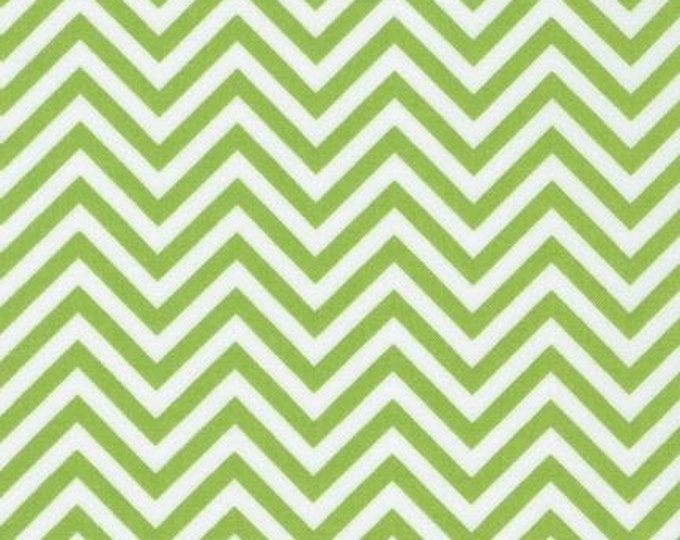 Chevron Fabric, Green Fabric, Baby fabric, Quilt fabric by Ann Kelle, Remix Chevron in Lime, You Choose the Cut, Free Shipping Available