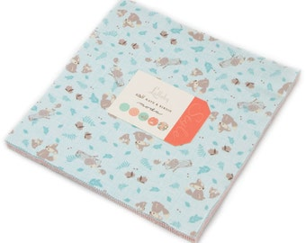 "Lullaby Moda Layer Cake, 42 - 10"" precut fabric quilt squares by Kate & Birdie"
