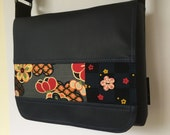 Japanese fabric with button satchel bag