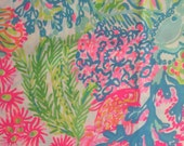 "multi lovers coral poplin cotton fabric square 18""x18"" ~ lilly summer 2016 ~ lilly pulitzer"