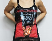 Army of Darkness shirt evil dead tank top ash Horror movie gothic clothing alternative apparel dark style altered tee t-shirt