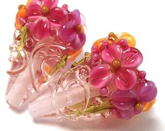 Raspberry Salsa Crystal Sparkle Cones