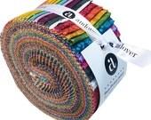 "SALE 50% Off Andover SUN PRINT 2016 Strip Roll 2.5"" Precut Fabric Quilting Cotton Strips Jelly Alison Glass"