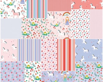 "SALE 30% Off SQ53 Riley Blake PRINCESS DREAMS Precut 5"" Stacker Charm Pack Fabric Quilting Squares 5-5490-42"