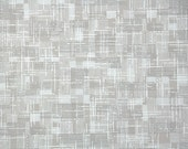 1940's Vintage Wallpaper - Gray and White Plaid