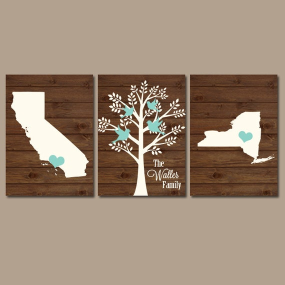 two states family tree canvas or prints personalized wall art. Black Bedroom Furniture Sets. Home Design Ideas
