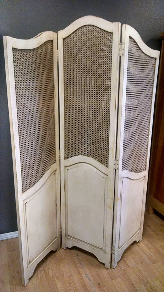 French Folding Screens : Antique french folding dressing screen room divider shabby