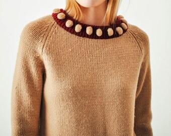 Vintage 1960s Pom Pom Sweater