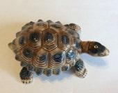 Vintage Wade turtle 2 piece porcelain trinket dish
