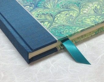 Journal Lined or Blank, Guest Book in Turquoise Marble