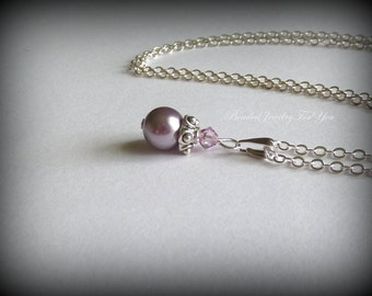 Wedding Jewelry: Pearl Bridesmaid Necklace, Bridesmaid Necklace, Wedding Necklace, Bridesmaid Jewelry, Jewelry for Brides, Bridal Jewelry