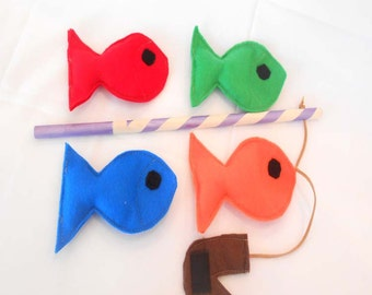 Fishing Game, Felt Fishing Game, Fishing Toy, Fishing Game, Montessori Toy