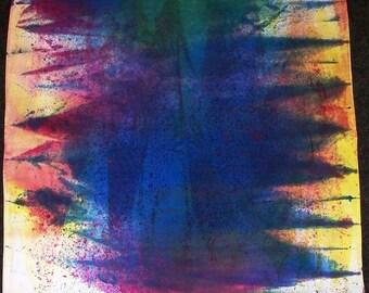Hand-painted Abstract Color Bandana