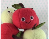 Smiley Red Delicious Apple Plush
