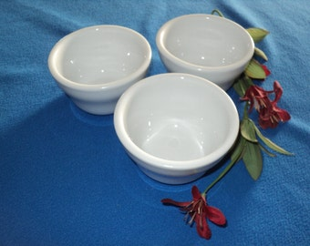 Three Vintage Syscoware China Custard Cups