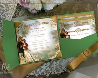 Ever After-A Fairy Tale Wedding Invitation perfect for fantasy, handfasting, reenactment or medieval style weddings
